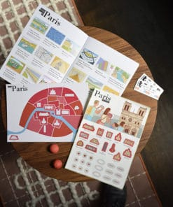 carnet de voyage enfant Paris kit complet