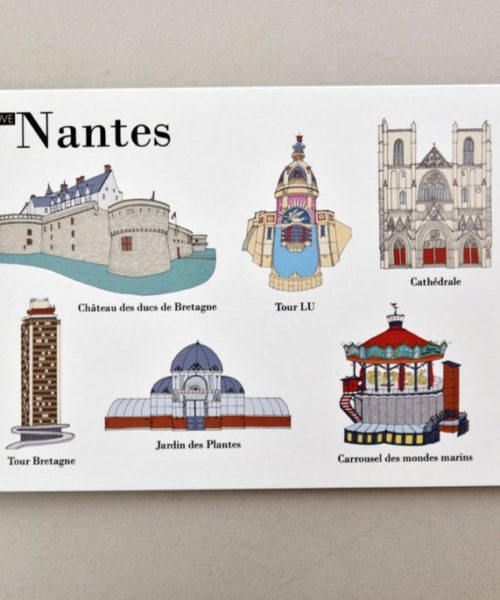 cartes postales illustrées Nantes visuel 3