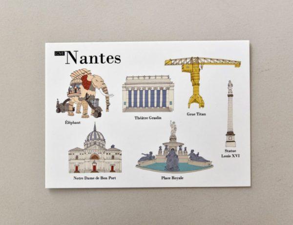 cartes postales illustrées Nantes visuel 2