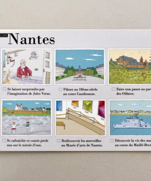Illustrated postcards Nantes visual 1