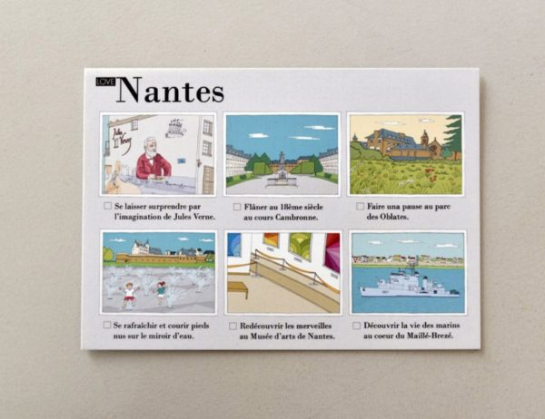 cartes postales illustrées Nantes visuel 1