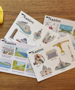 cartes postales illustrées Nantes cover