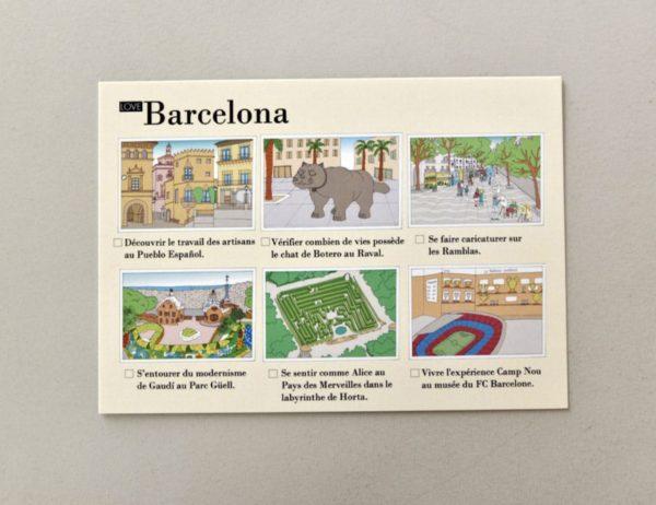 cartes postales illustrées Barcelone visuel 4