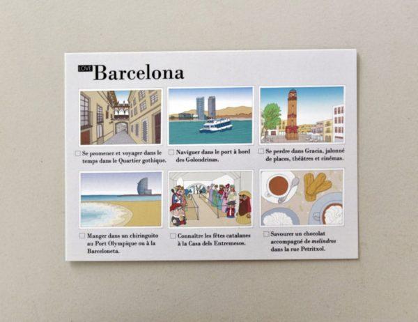 cartes postales illustrées Barcelone visuel 3
