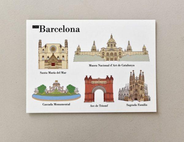 cartes postales illustrées Barcelone visuel 2