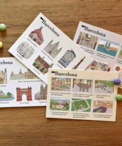 illustrated postcards Barcelona cover