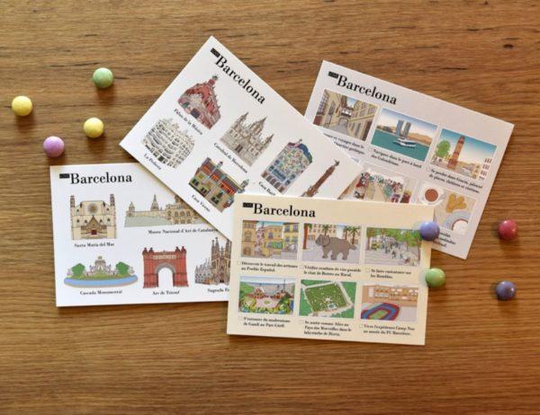 cartes postales illustrées Barcelone cover