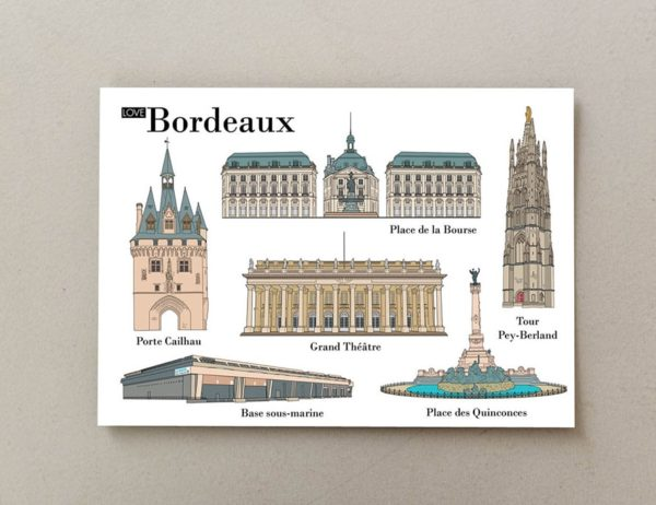 cartes postales illustrées Bordeaux 2