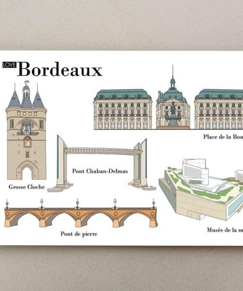 cartes postales illustrées Bordeaux 1