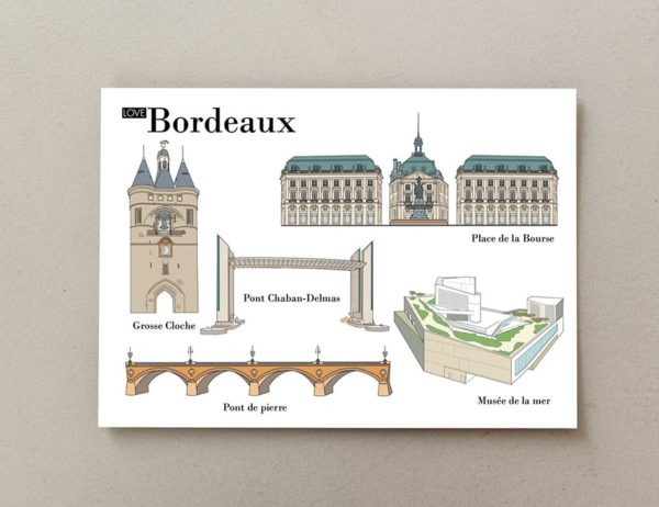 cartes postales illustrées Bordeaux 1