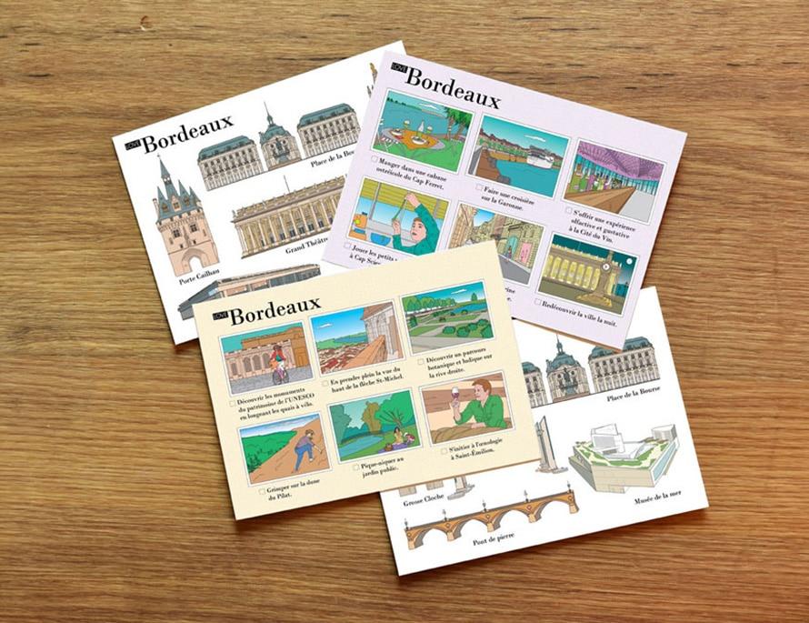 cartes postales illustrées Bordeaux