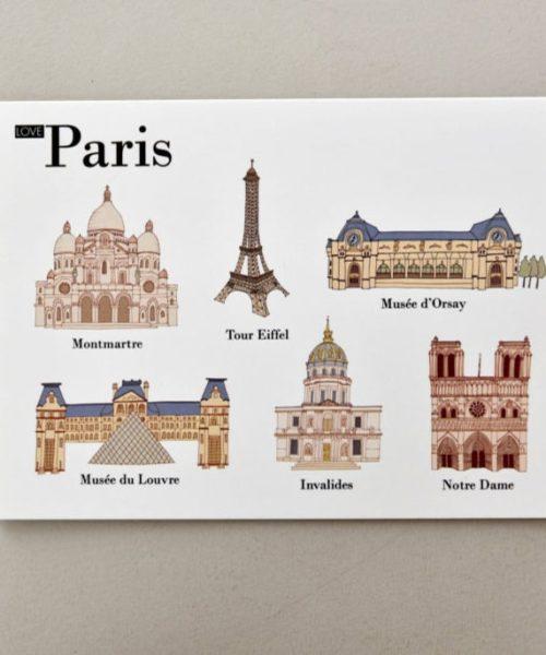 Postales ilustradas Paris visual 1