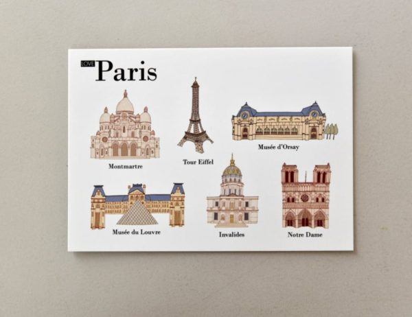 cartes postales illustrées Paris visuel 1