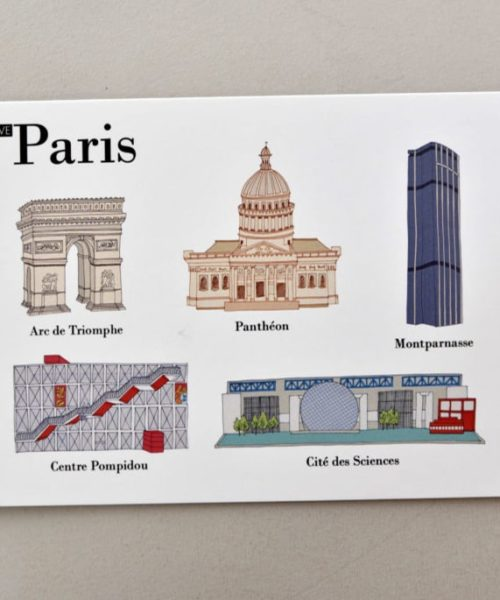 Illustrated postcards Paris visual 2