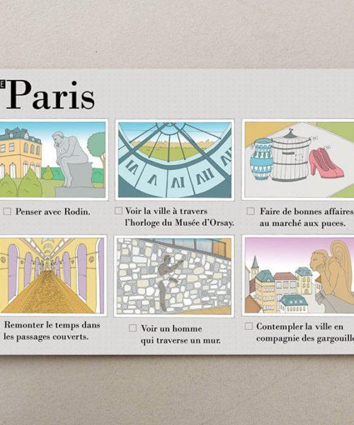 Postales ilustradas Paris visual 3