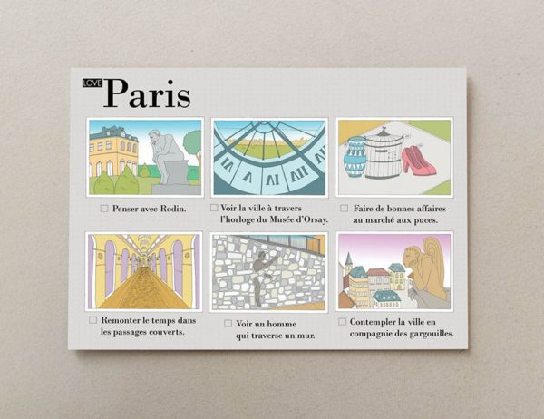 cartes postales illustrées Paris visuel 3