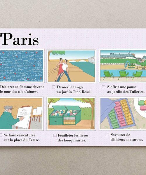 Postales ilustradas Paris visual 4