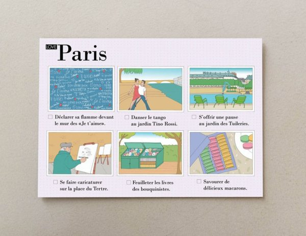 cartes postales illustrées Paris visuel 4