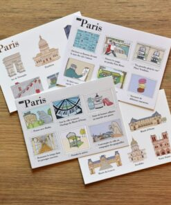 Illustrated postcards Paris cover
