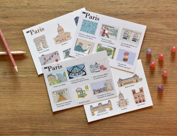 cartes postales illustrées Paris cover