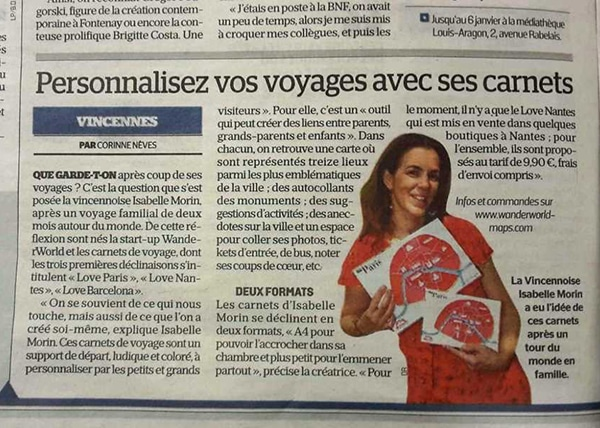 la presse parle de WanderWorld Le Parisien