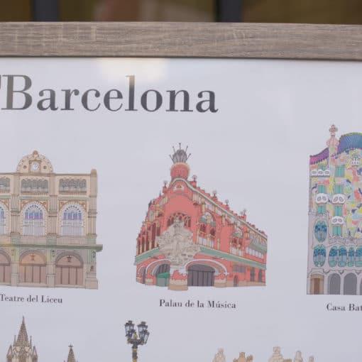 Poster lieux à visiter à Barcelone - détail 1