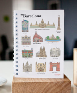 cahier à spirale original Barcelone monuments cover