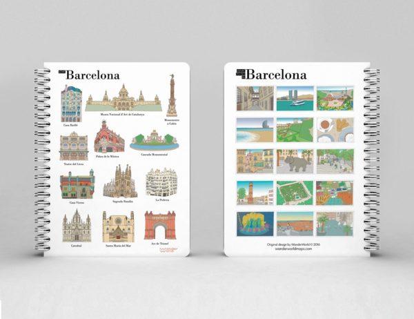 cahier à spirale original Barcelone monuments image 1