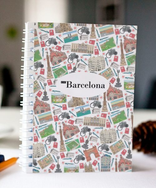 original spiral notebook Barcelona mosaic cover