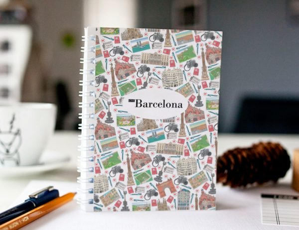 cahier à spirale original Barcelone mosaïque cover