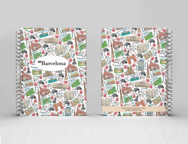 cahier à spirale original Barcelone mosaïque image 1