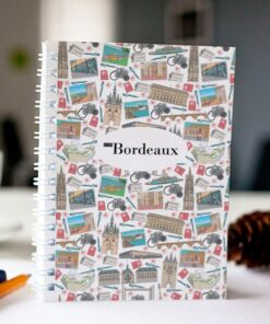 carnet à spirale original Bordeaux mosaique cover