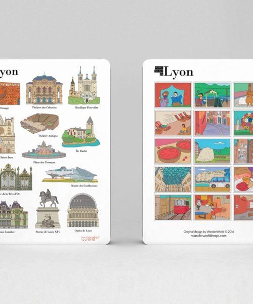 cahier à spirale original Lyon monuments image 1
