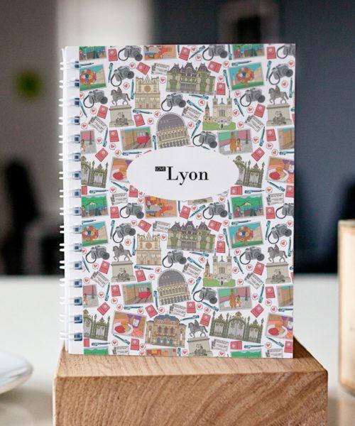 cahier à spirale original Lyon mosaïque cover