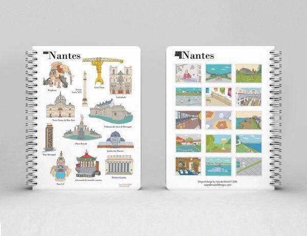 cahier à spirale original Nantes monuments image 1