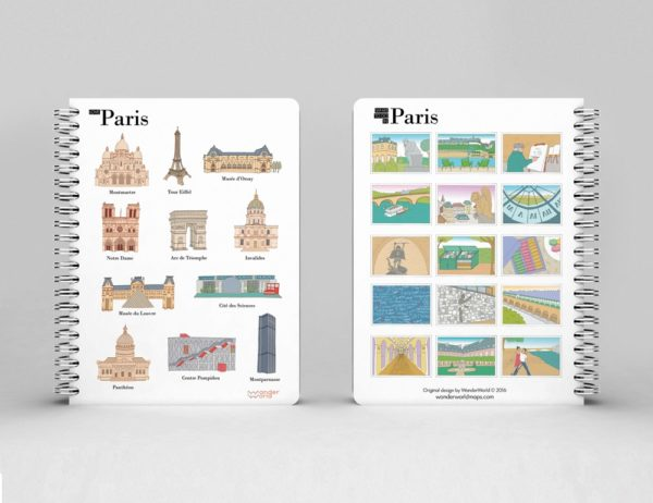 original spiral notebook Paris monuments image 1