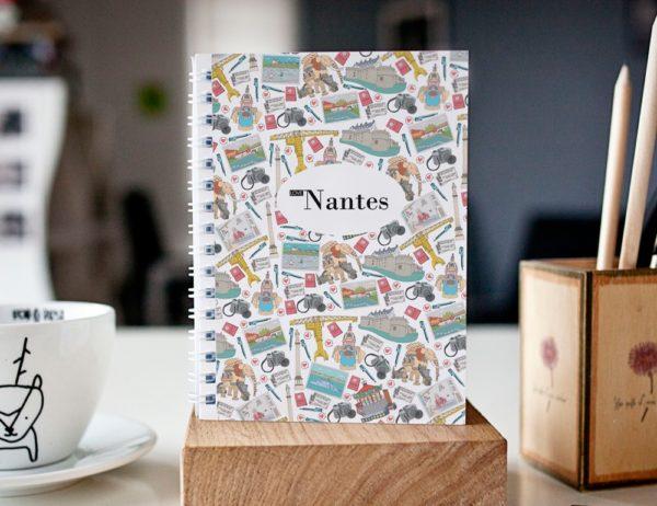 cahier à spirale original Nantes mosaïque cover