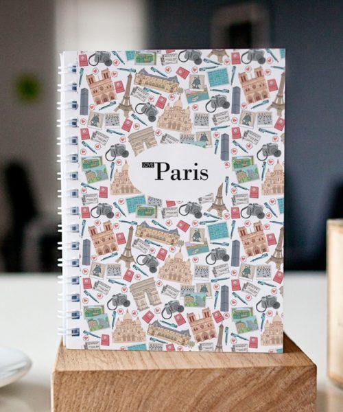 original spiral notebook Paris mosaic cover