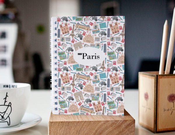 cahier à spirale original Paris mosaïque cover