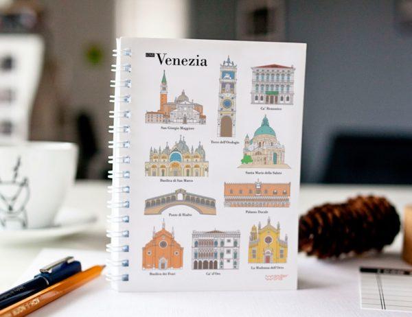 cahier à spirale original Venise monuments cover