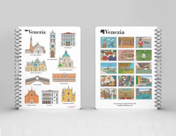 original spiral notebook Venice monuments image 1