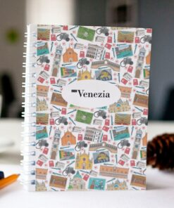 original spiral notebook Venice mosaic cover