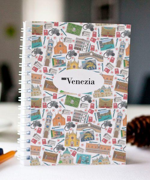 cahier à spirale original Venise mosaïque cover