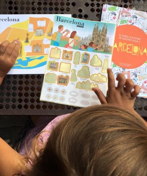 children's travel diary Barcelona 1