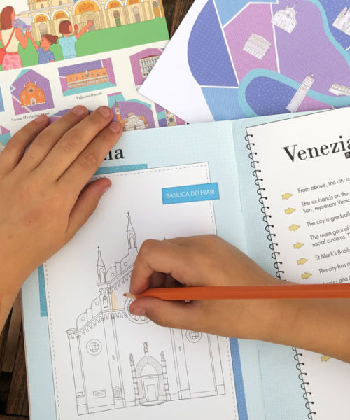 carnet de voyage Venise WanderWorld coloriage enfant