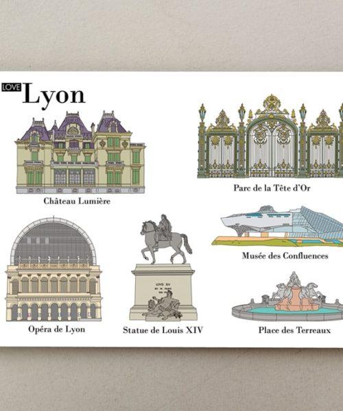 Postales ilustradas Lyon 1