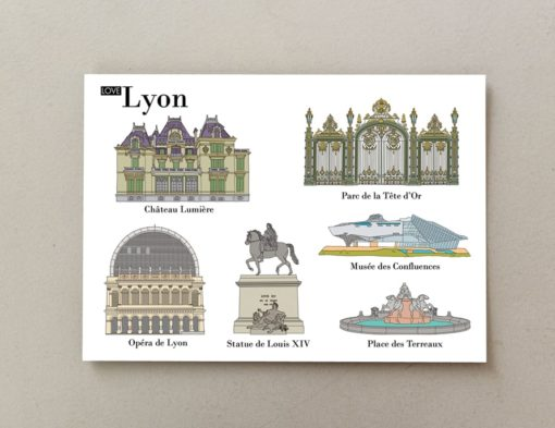 cartes postales illustrées Lyon 1