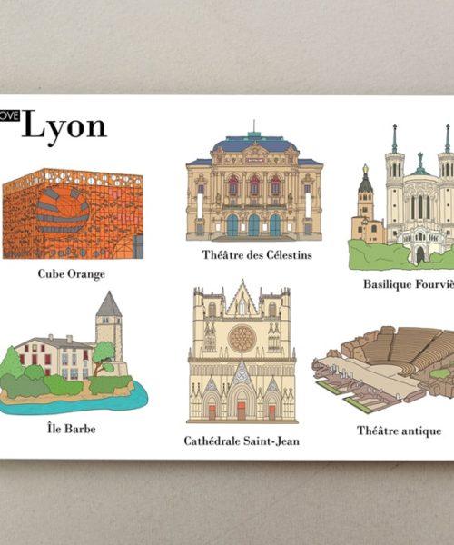 Illustrated postcards Lyon 2