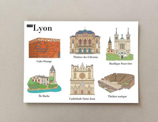 Cartes postales illustrées Lyon 2
