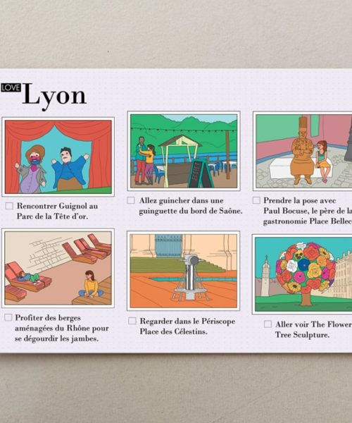 Illustrated postcards Lyon 3